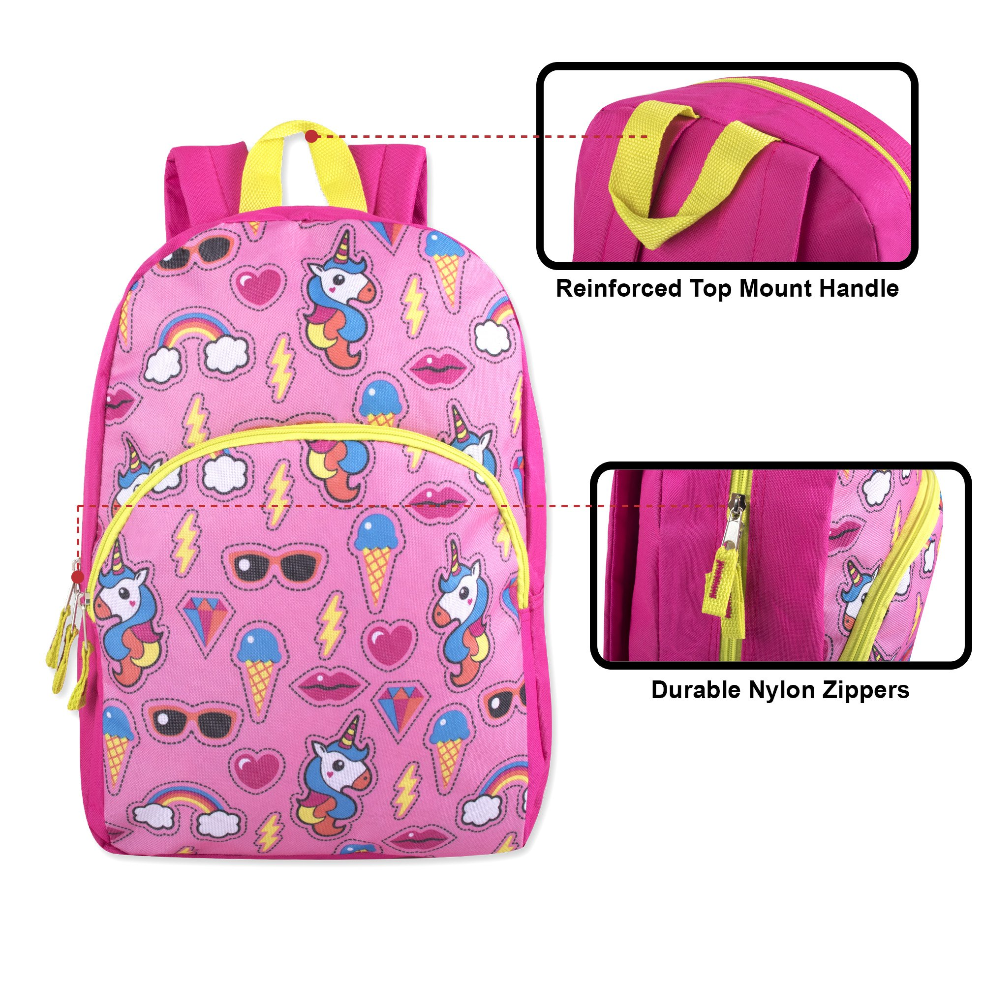 Trail maker Character Backpack (15'') with Fun Fashionable Design for Boys & Girls (Unicorn Adventure) by Trail maker (Image #2)