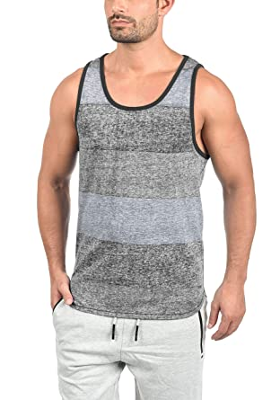 ccd1d398f83d2 Solid Charan Men s Sleeveless Vest Tank Top with Crew Neck and Stripes