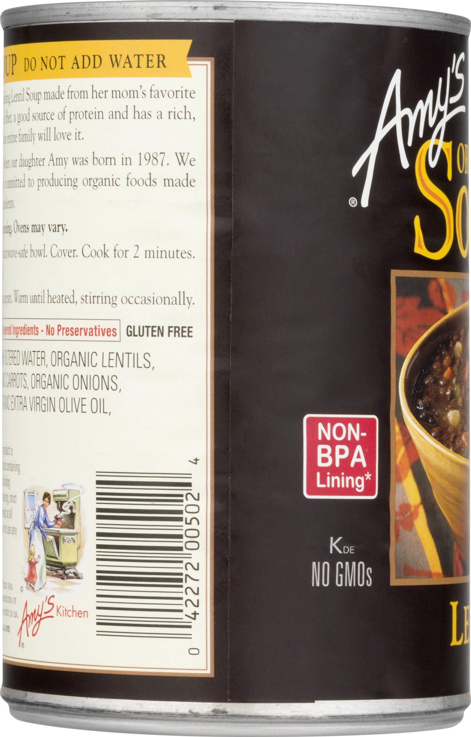 Amy's Soups, Organic Lentil Soup, 14.5 Ounce by Amy's (Image #4)