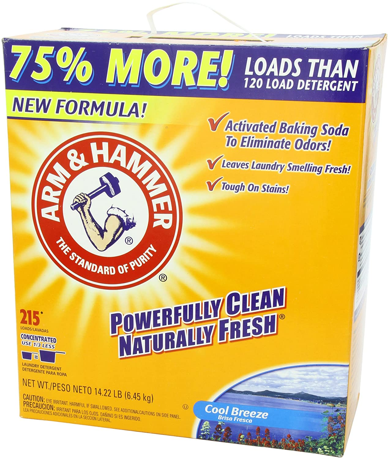 Is arm and hammer powder laundry detergent he - Amazon Com Arm Hammer Laundry Detergent Cool Breeze 14 22 Lbs Health Personal Care