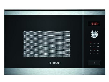 Bosch HMT84G654 - Microondas con grill para montaje empotrado, 900 W, color negro y acero inoxidable