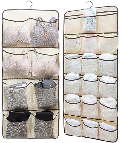 d627191f7074e Amazon.com  Sleeping Lamb Dual-Sided Hanging Closet Organizer for ...