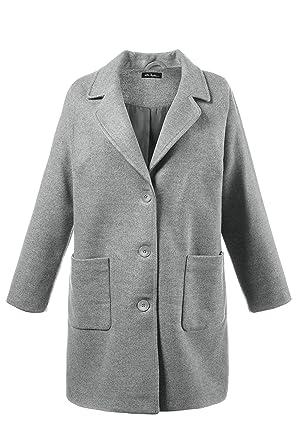 Ulla Popken Damen große Größen bis 6264   Mantel   Metallic