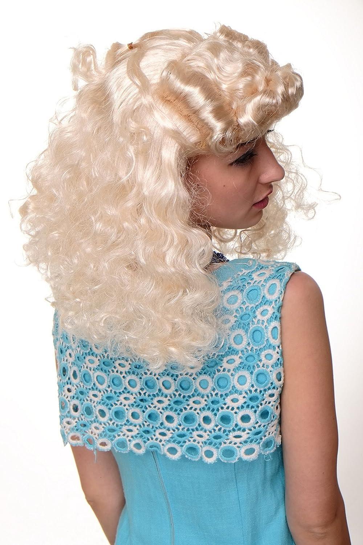 Perücke Faschingsperücke Damen Scarlett Rockabilly 50er blond Tolle WIG018-P88