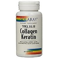 Solaray Collagen Keratin Type I, II, and III Capsules   60 Count