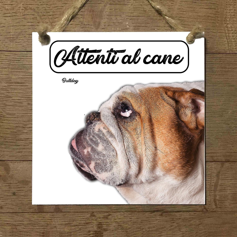 Bulldog Inglés Mod 1 cuidado con el Perro matrícula azulejo ...