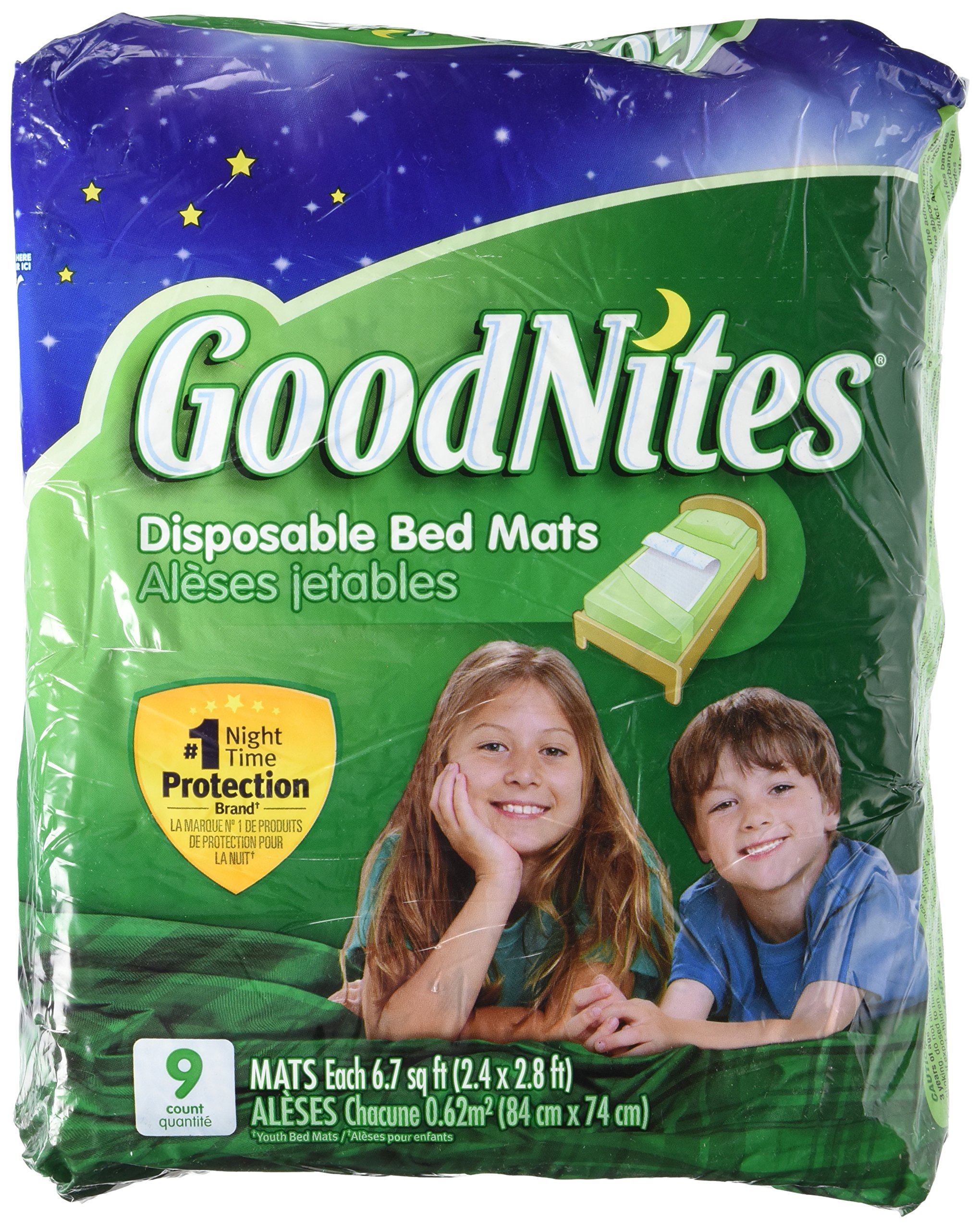 Bulk Buys GoodNites 9 Pack Disposable Bed Mats - Pack of 4