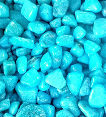 ice Blue Pebbles for Terrarium, Miniature Garden and Lawn- Craft