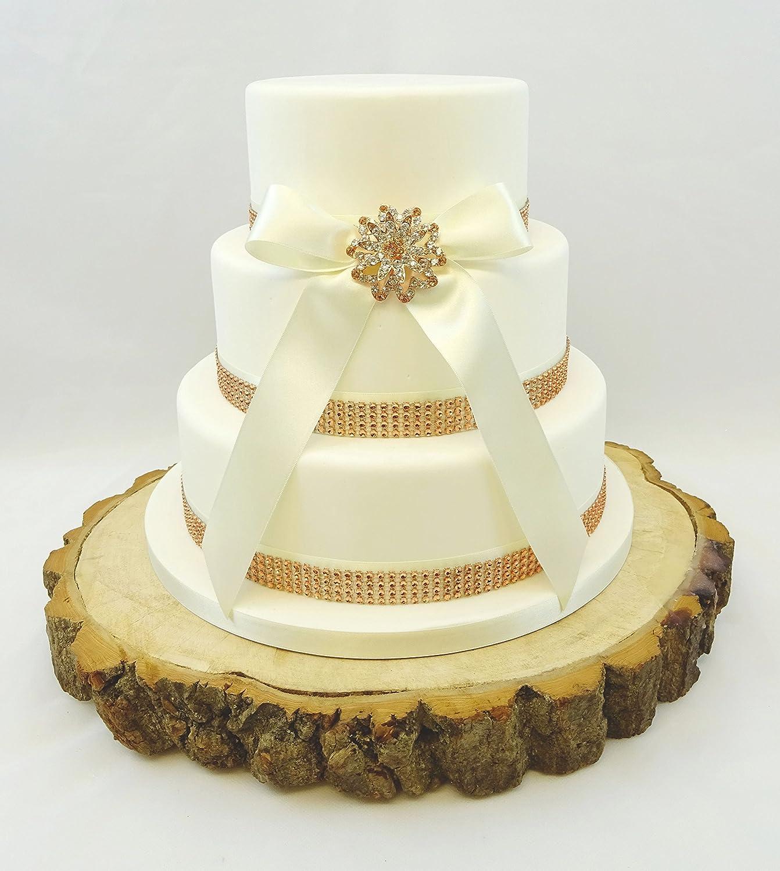 1 Metre 50mm RIBBON /& DIAMANTE TRIM BOW BOARD RIBBON CAKE RIBBON TOPPER SETS