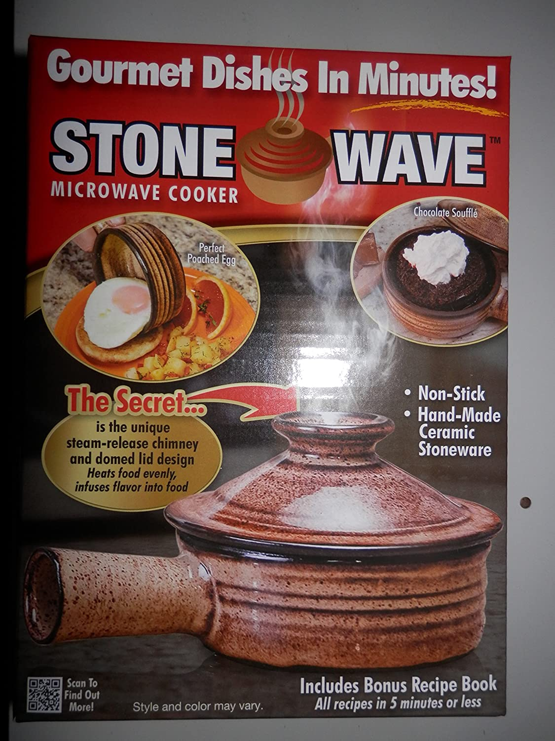 Stone Wave Dessert Recipes Amazoncom 4 Stone Wave Microwave Cooker Gourmet Dishes In