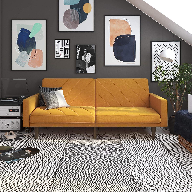 Strange Dhp Paxson Futon Mustard Machost Co Dining Chair Design Ideas Machostcouk