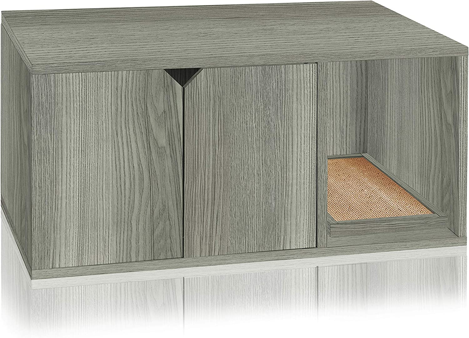 Way Basics Eco Cat Litter Box Enclosure Modern Cat Furniture (Tool-Free Assembly and Uniquely Crafted from Sustainable Non Toxic zBoard Paperboard)