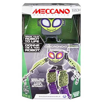 Meccano - Micronoid - Green Switch - Bring Your Robot To Life, Dances, Walks, Interacts: Toys & Games