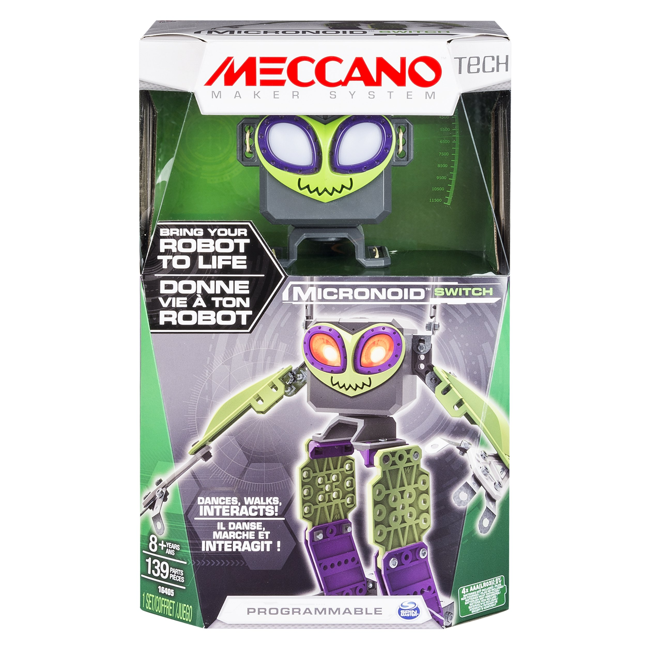Meccano - Micronoid - Green Switch