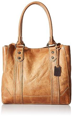 1539dc08d11a Amazon.com: FRYE Melissa Tote Leather Handbag, Beige, One size: Clothing