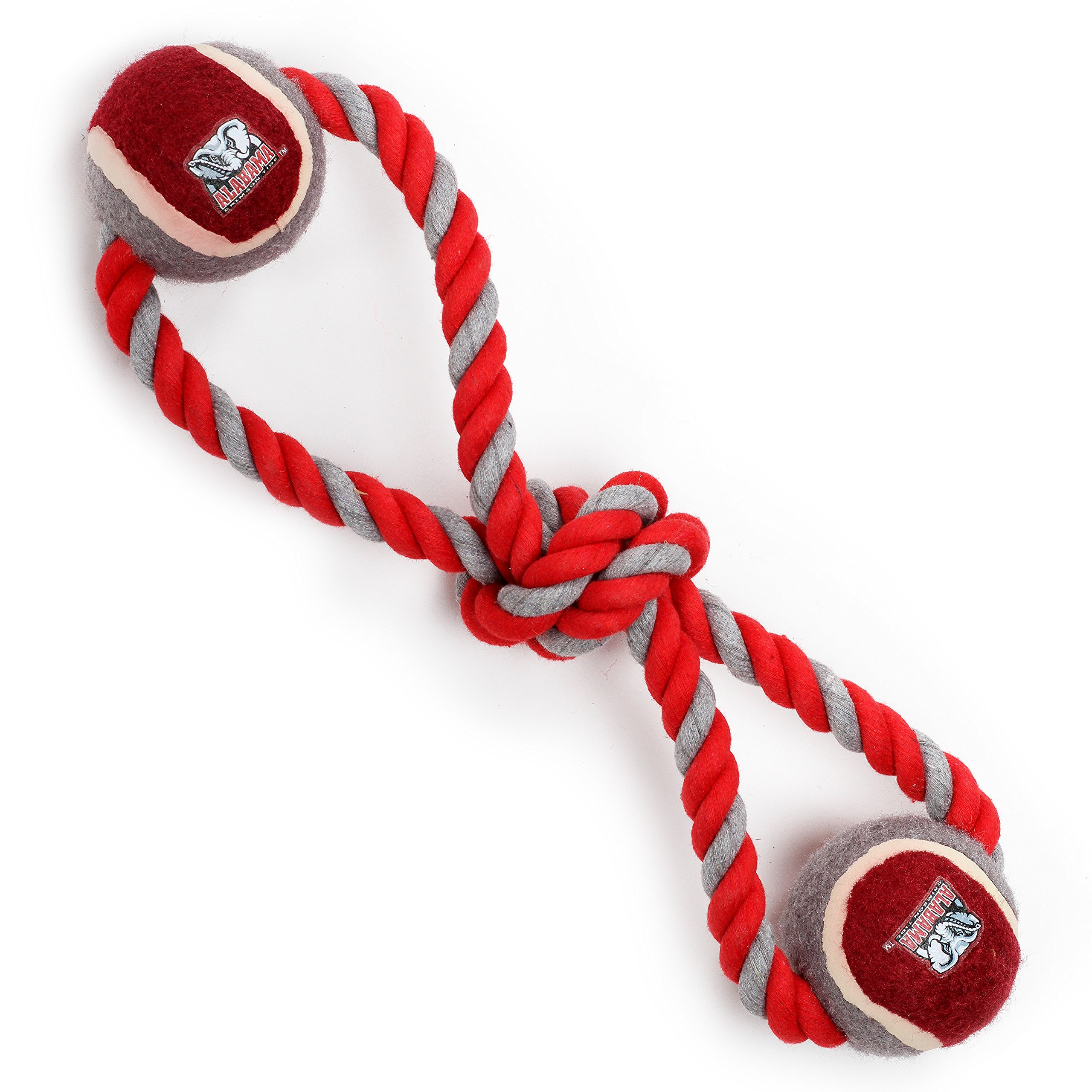 Pet Goods Manufacturing Alabama Crimson Tide Double Ball with Dog Toy Rope