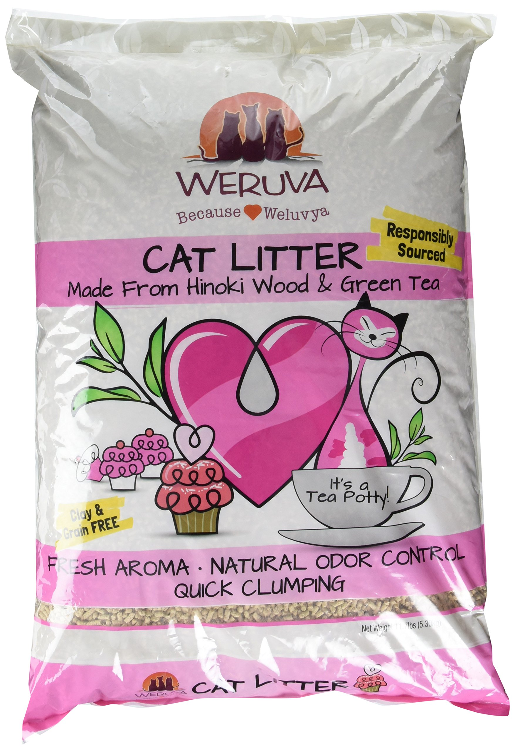 It's A Tea Potty! Hinoki Wood & Green Tea Natural Cat Litter by Weruva