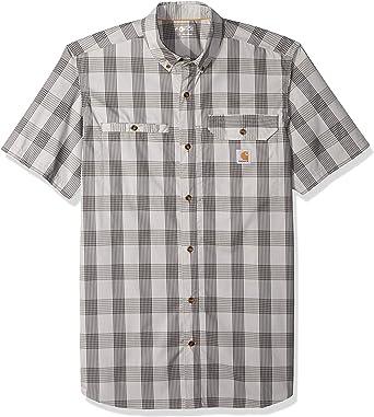 Carhartt - Camisa de manga corta para hombre, diseño de cuadros, talla grande y alta, para hombre: Amazon.es: Ropa y accesorios