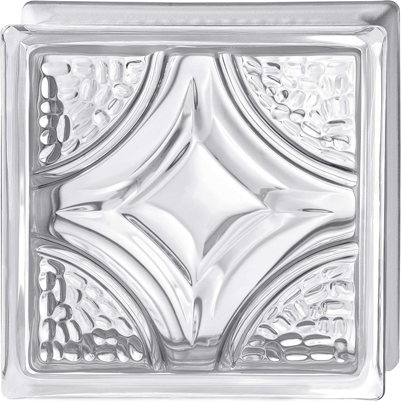 Bormioli Rocco Cristal transparente decorado Pure Vintage Rombo 19 x 19 x 8-6 unidades