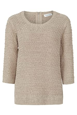 988809eeb64 Tulchan Ladies Stitchy Tape Jumper, Biscotti (20, Biscotti): Amazon ...