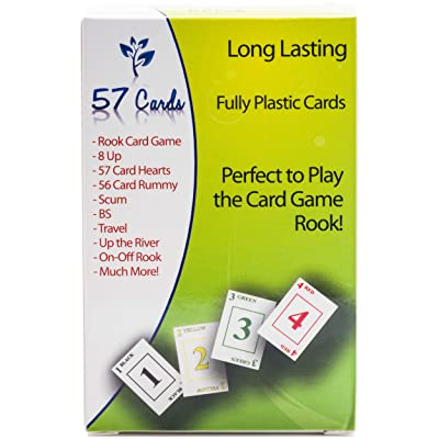 57 Cards Plastics: Premium Rook Quality Cards [Green Backs]: Toys & Games [5Bkhe1101035]