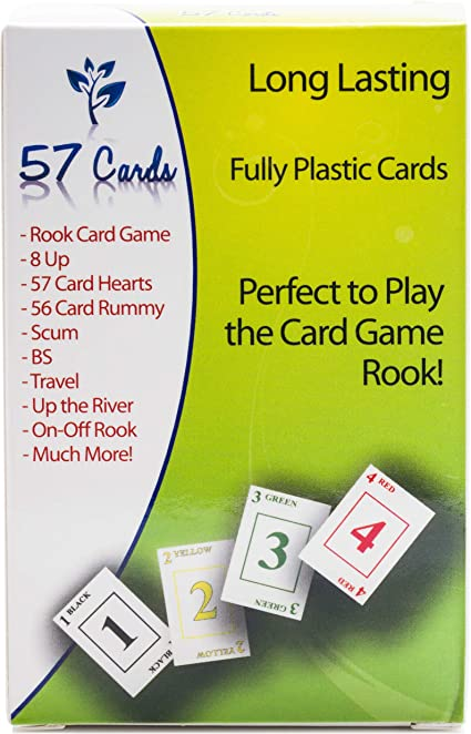 57 Cards Candy Colors Fully Plastic Rook Cards