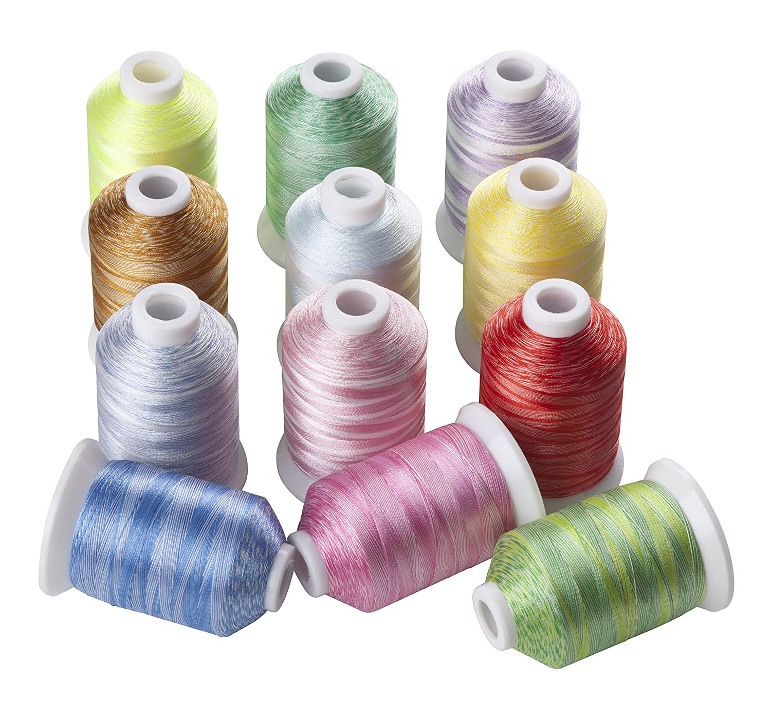 12 Variegated Color Polyester Embroidery Machine Thread for Most Home Embroidery Machines 1100 Yards Each CR THREAD INDUSTRY 4337015920