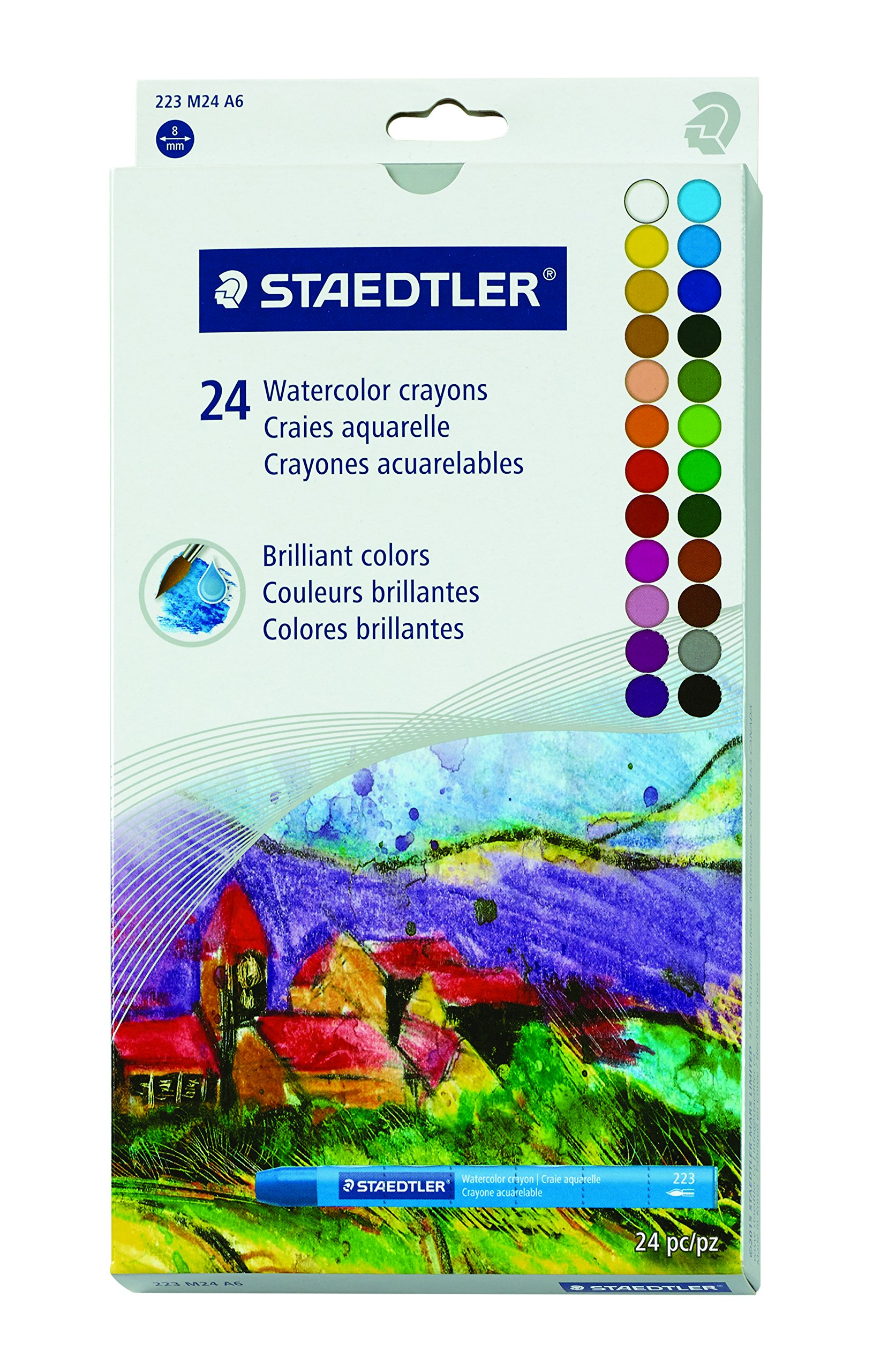 Staedtler Karat Aquarell Premium Watercolor Crayons (223M24) by STAEDTLER