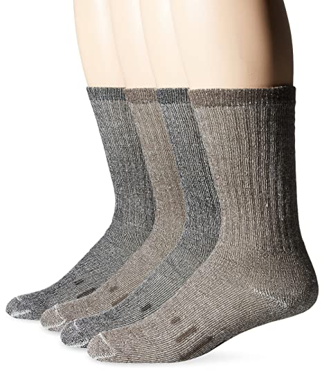 34323dbc5 Amazon.com  Kirkland Signature Outdoor Trail Sock Merino Wool Blend (Large  - Pack of 4)  Clothing