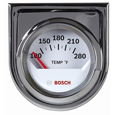 "Bosch SP0F000040 Style Line 2"" Electrical Water/Oil Temperature Gauge (White Dial Face, Chrome Bezel): Automotive"