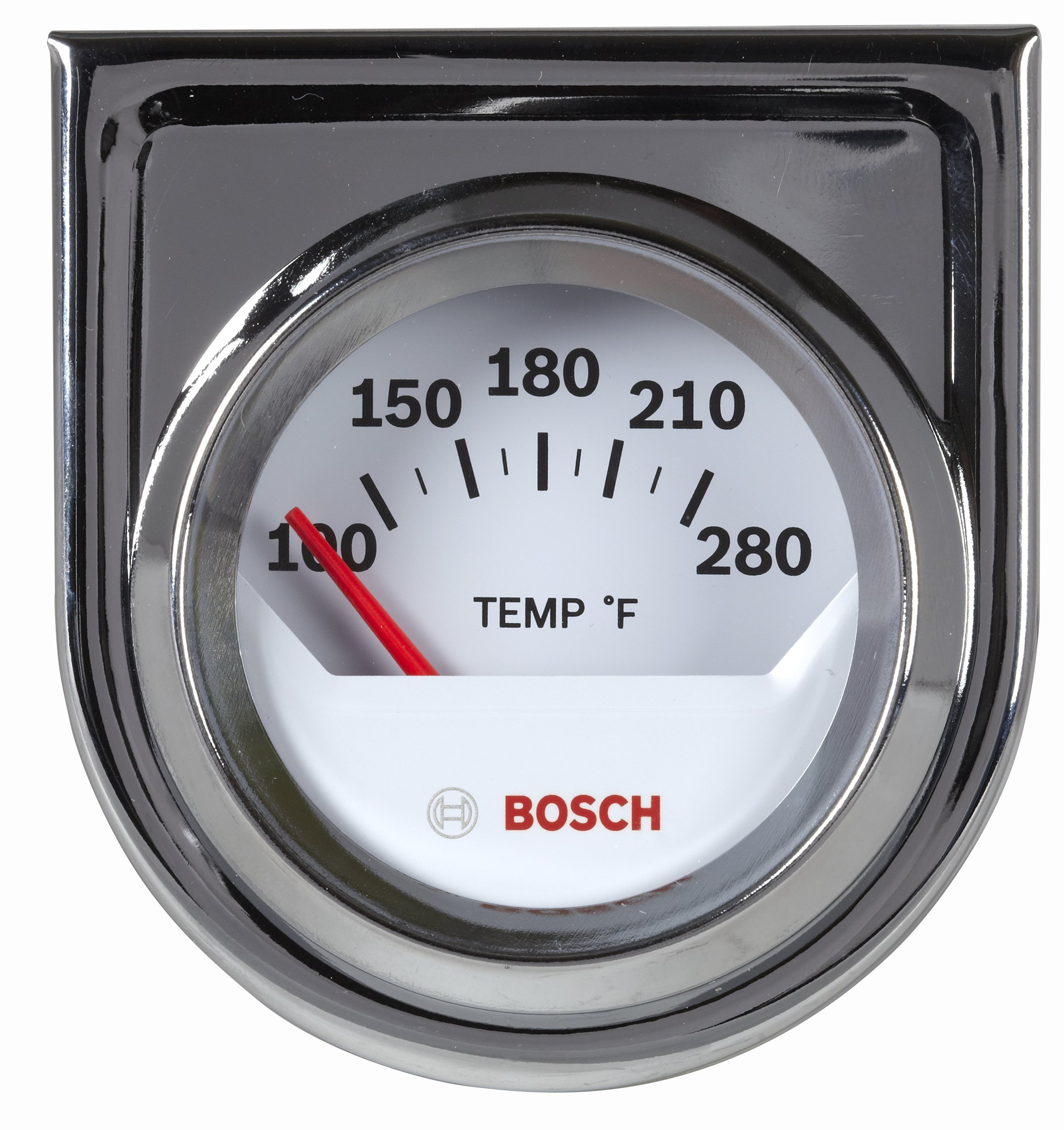 Bosch SP0F000040 Style Line 2'' Electrical Water/Oil Temperature Gauge (White Dial Face, Chrome Bezel) by Bosch Automotive
