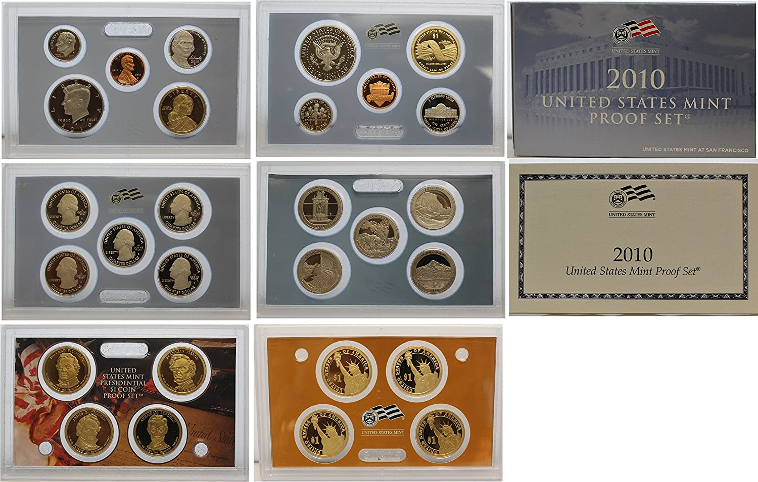 2010 United States Mint Silver Proof 14 Coin Set with box with COA Original box