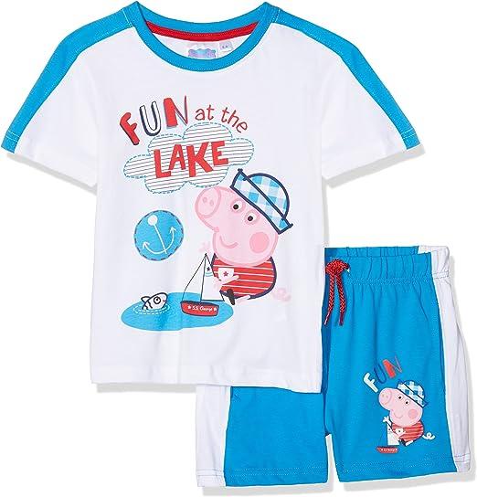 Peppa Pig George Conjunto de Ropa, Azul (Blue 18-4247 TC), 8 años ...
