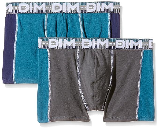 Dim 3D Flex Dynamic Boxer x2, Hombre, Nuit/Bleu Prusse-Gris Foncé