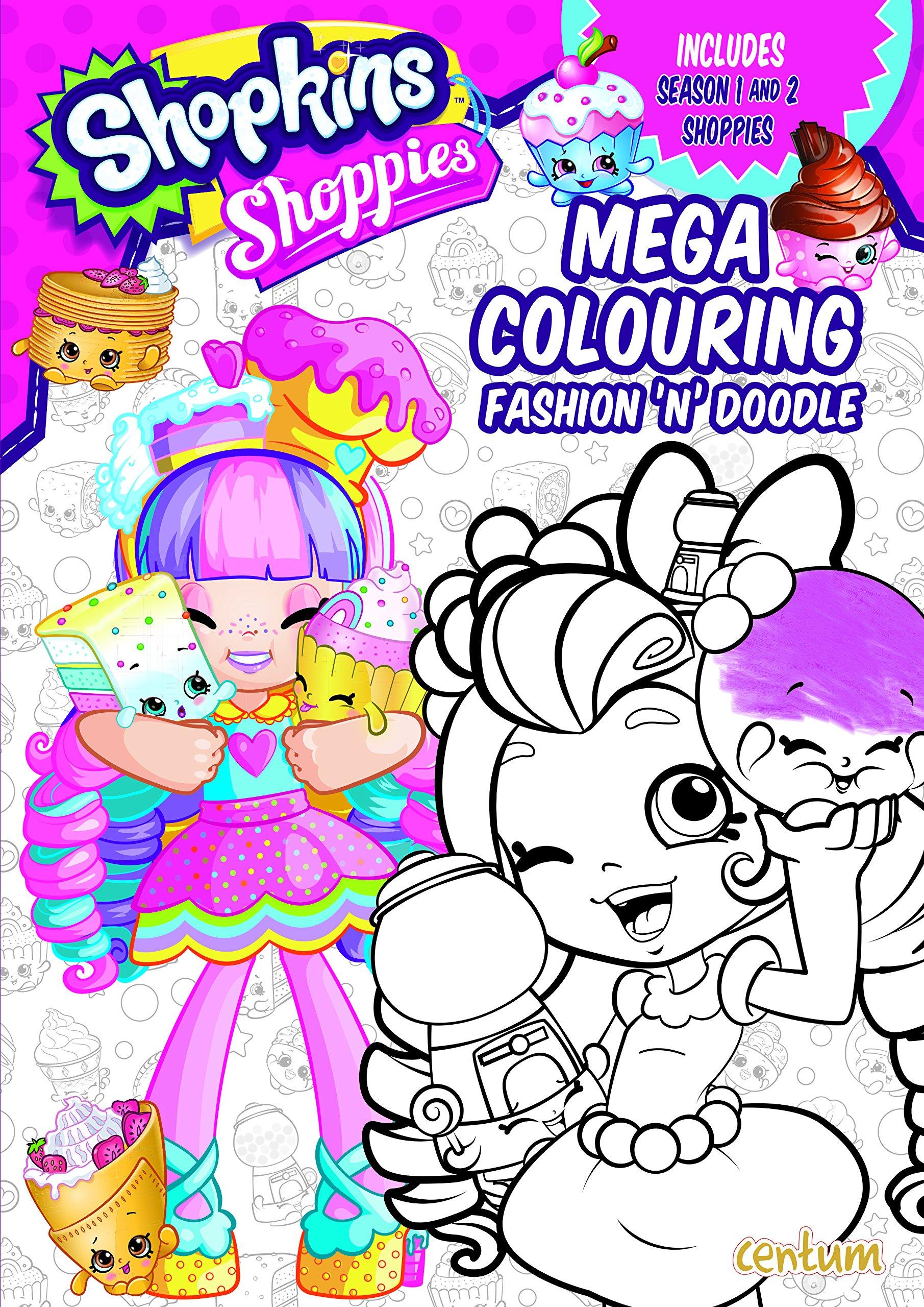 Shopkins Shoppies Mega Colouring Book Amazoncouk 9781911460107 Books
