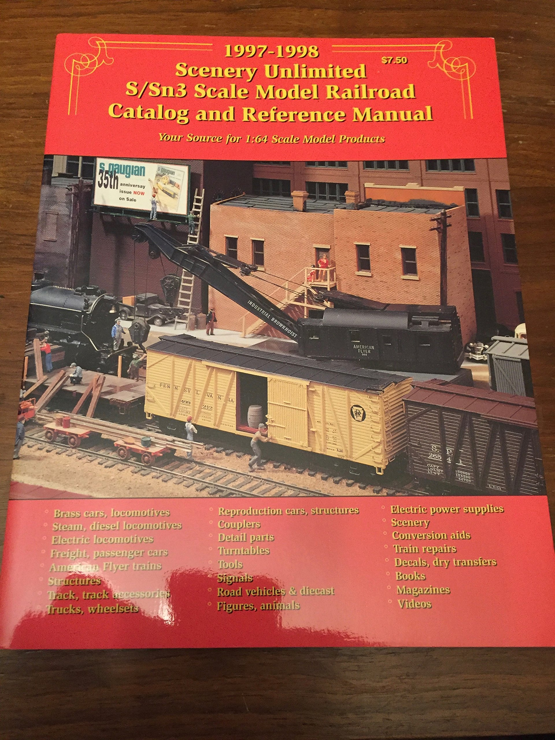 1997-1998 Scenery Unlimited S/Sn3 Scale Model Railroad Catalog and