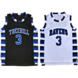 Lucas Scott #3 One Tree Hill Ravens Throwback Basketball Jersey S-XXL
