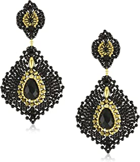 product image for Miguel Ases Onyx Lotus Earrings