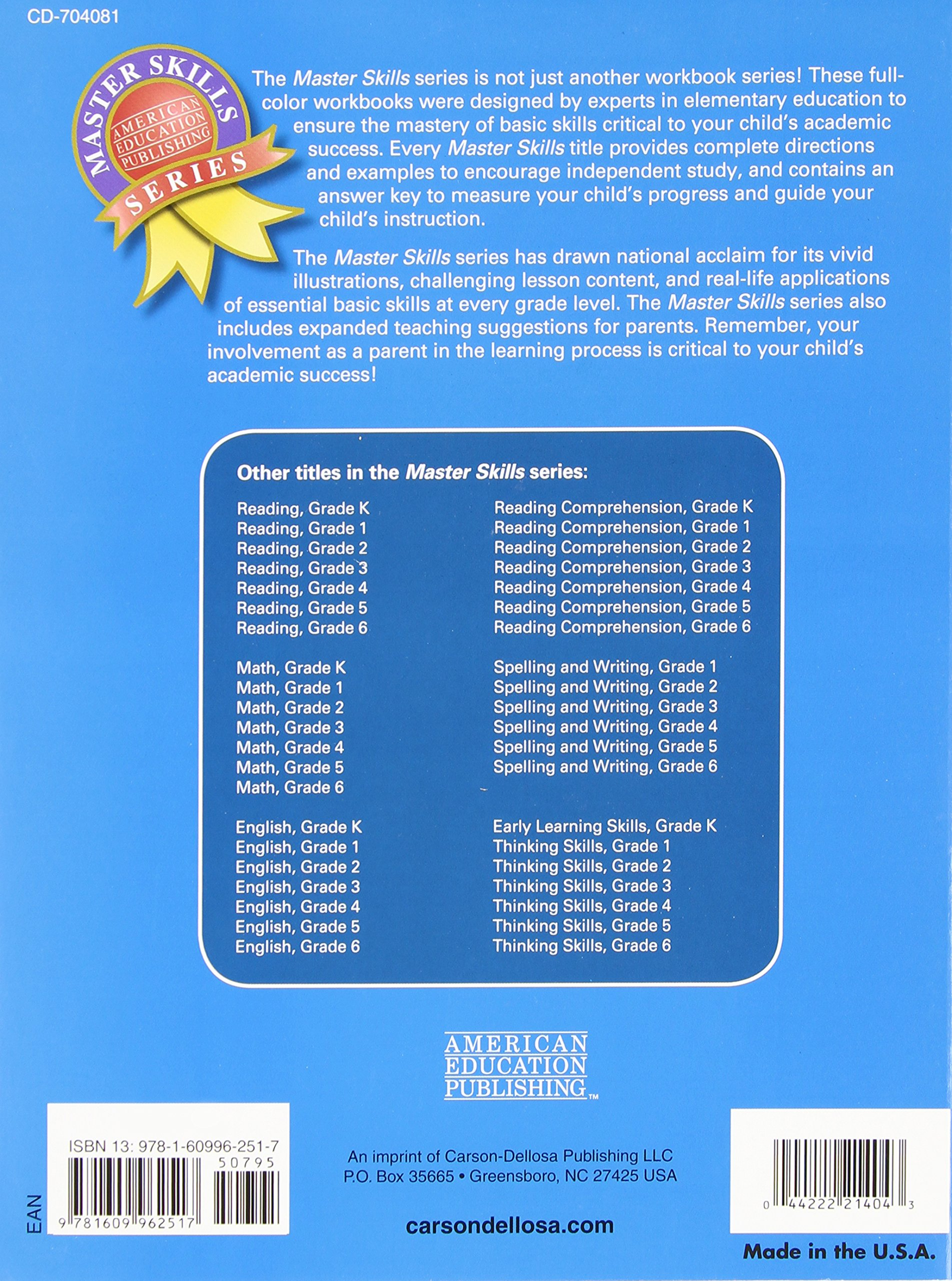 Amazon math grade 4 master skills 0044222214043 american amazon math grade 4 master skills 0044222214043 american education publishing books fandeluxe Choice Image