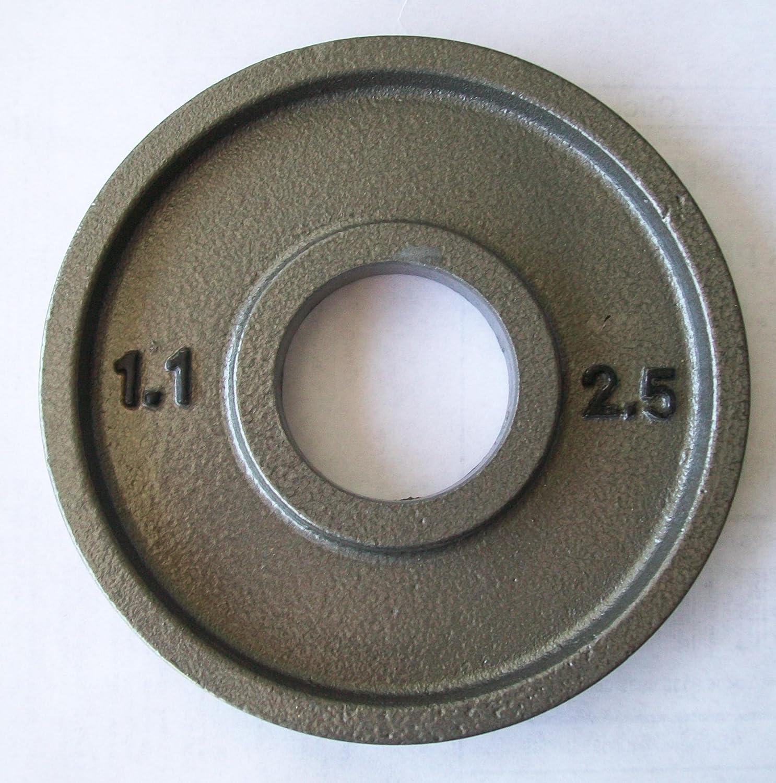 Pair 2.5 lb Grey Olympic Plates