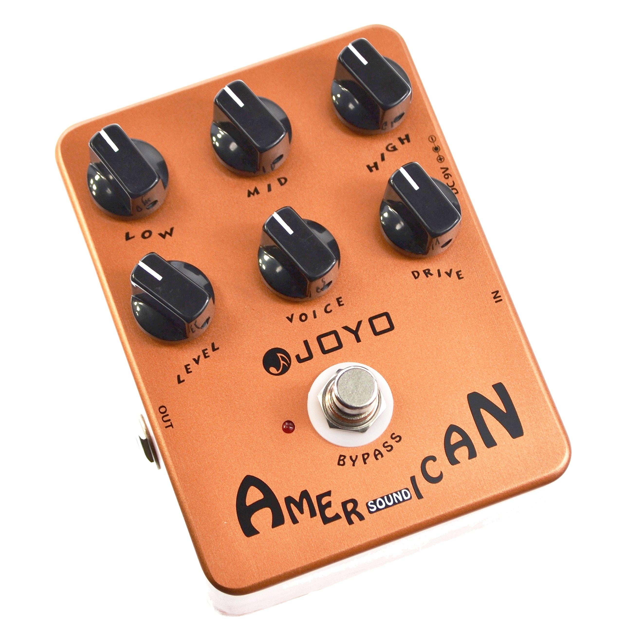 JOYO JF-14 American Sound Guitar Effect Pedal Overdrive DI Amplifier Simulator (JF-14) by MIMIDI