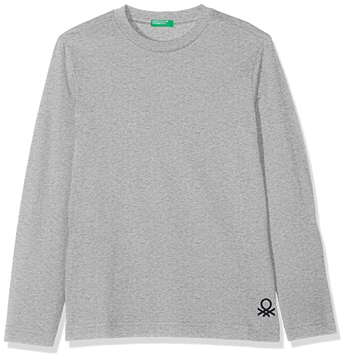 United Colors of Benetton T-Shirt L/s Camiseta, Gris (Melange Gray ...