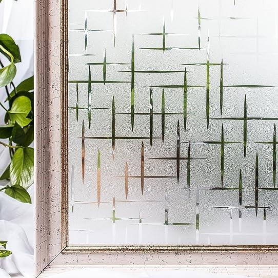 Cottoncolors Film Adhesif Decoratif Pour Fenêtre 3D Statique