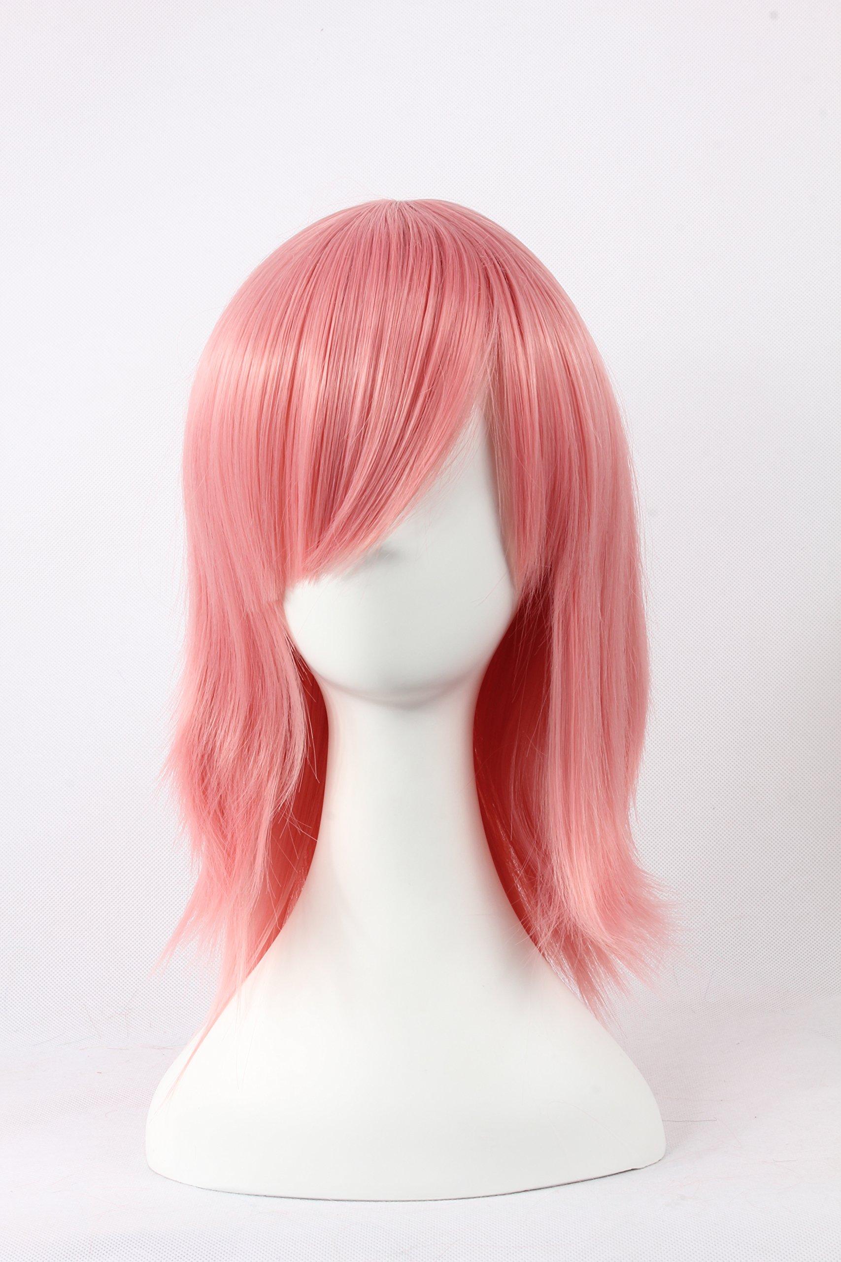 Coolsky Wigs Hokage Ninjia,Remake Honey Mix Pink Hair Cosplay