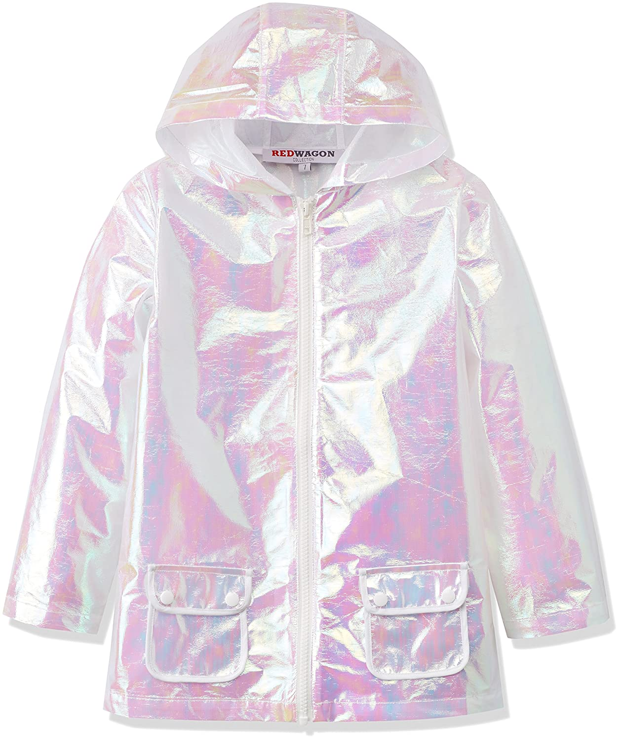 8fff4318d1e4 RED WAGON Girl s Iridescent Light Weight Jacket  Amazon.co.uk  Clothing