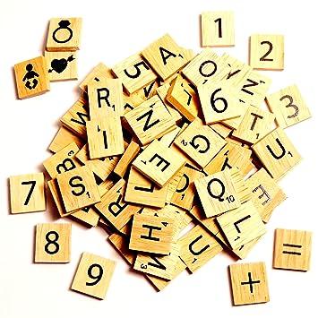 115 Scrabble Tiles For Crafts Wooden Pieces Bulk Set For