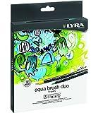 Fila Lyra L6521240 - Astuccio 24 Pennarelli Aquabrush Duo