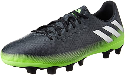 low priced 4c0e2 014bb Adidas Men s Messi 16.4 FxG Dkgrey, Silvmt and Sgreen Football Boots - 12  UK
