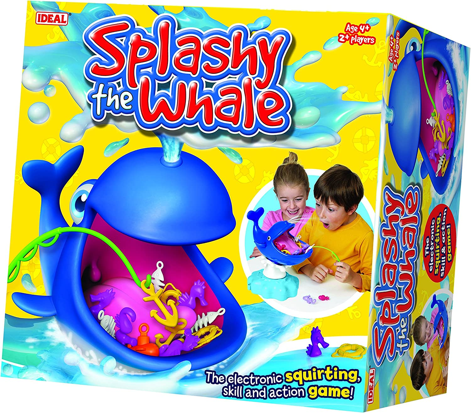 SPLASHY THE WHALE Squirting Game Fun Toy Skills 4 Years 2 Players Gift Xmas