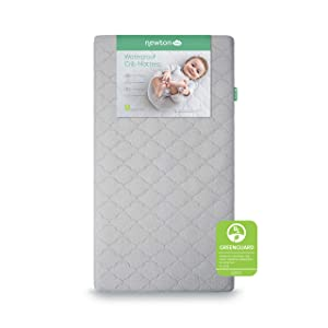Newton Baby Crib Mattress and Toddler Bed | Waterproof | 100% Breathable Proven to Reduce Suffocation Risk, 100% Washable, Hypoallergenic, Non-Toxic, Better Than Organic - 2-Stage Cover Included